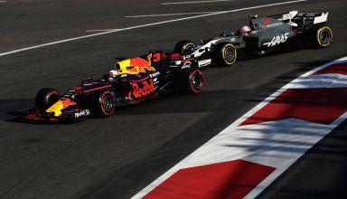 Ricciardo leads Magnussen Azerbaijan GP F1 2017 Baku Red Bull Haas Photo Red Bull