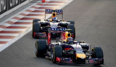 Ricciardo leads Vettel Red Bull RB10 Abu Dhabi GP F1 2014 Photo Red Bull