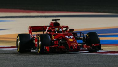 Sebastian Vettel Ferrari Bahrain GP f1 2018 Photo Ferrari
