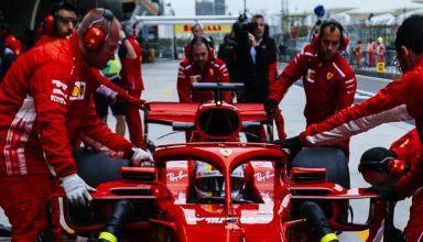 Sebastian Vettel Ferrari SF71H Chinese GP F1 2018 pitlane Photo Ferrari