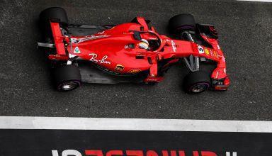 Sebastian Vettel Ferrari SF71H Chinese GP F1 2018 pitlane top Photo Ferrari