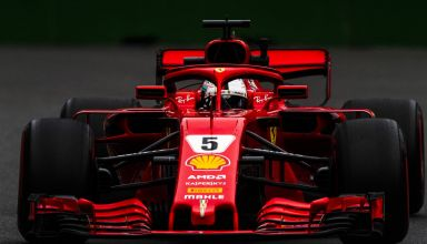 Sebastian Vettel Ferrari SF71H supersoft Azerbaijan GP F1 2018 Photo Ferrari