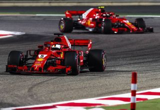 Vettel leads Raikkonen Bahrain GP F1 2018 Photo Ferrari