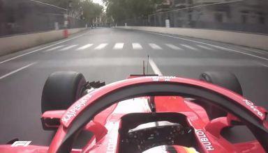 Vettel pole onboard Baku F1 2018 Ferrari SF71H
