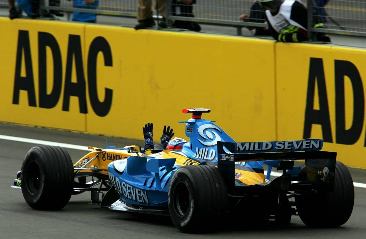 2005 European GP Nurburgring Fernando Alonso Renault RS25 win