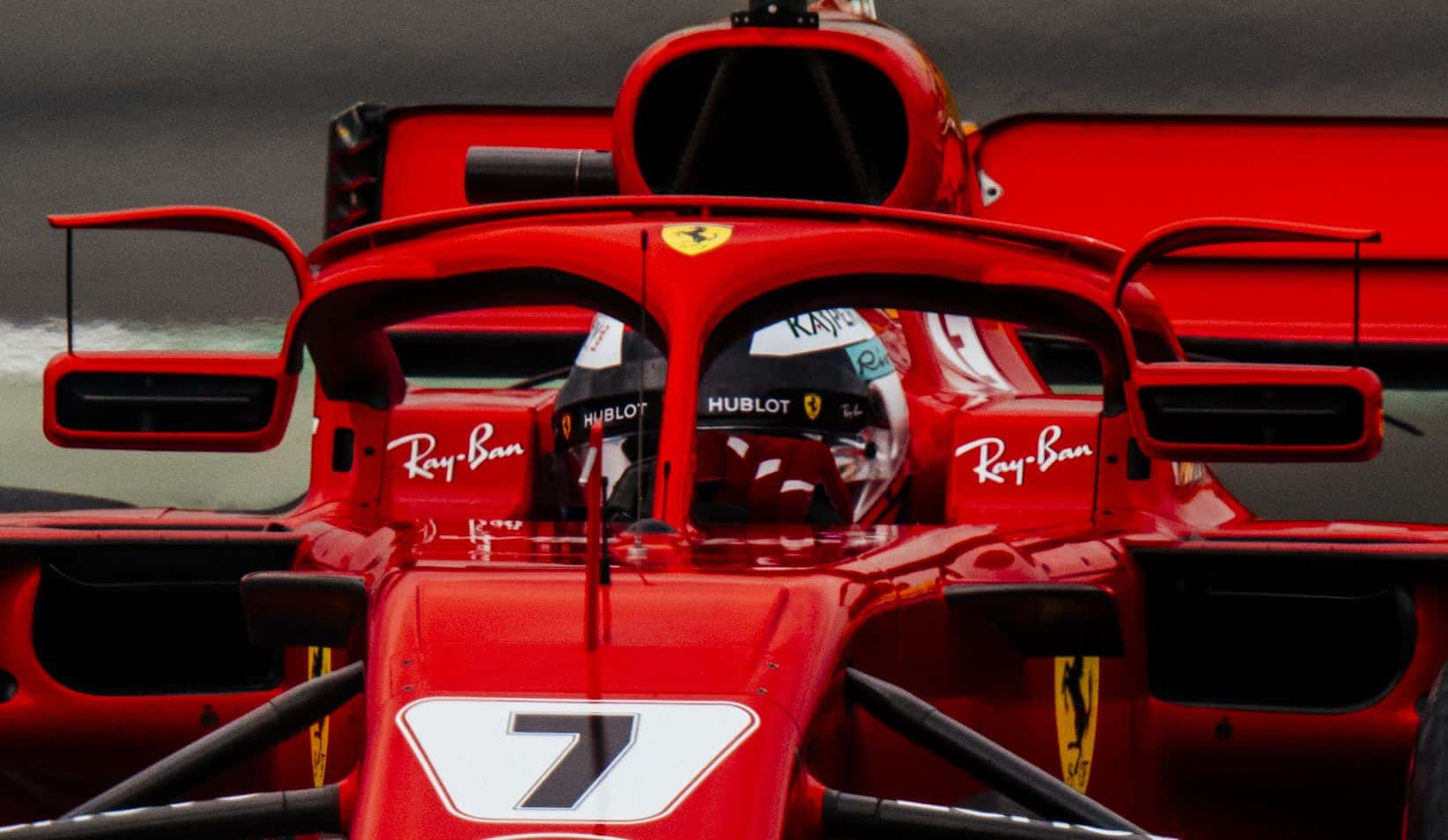 Ferrari SF71H Spanish GP F1 2018 halo mirrors wiglets Photo Ferrari