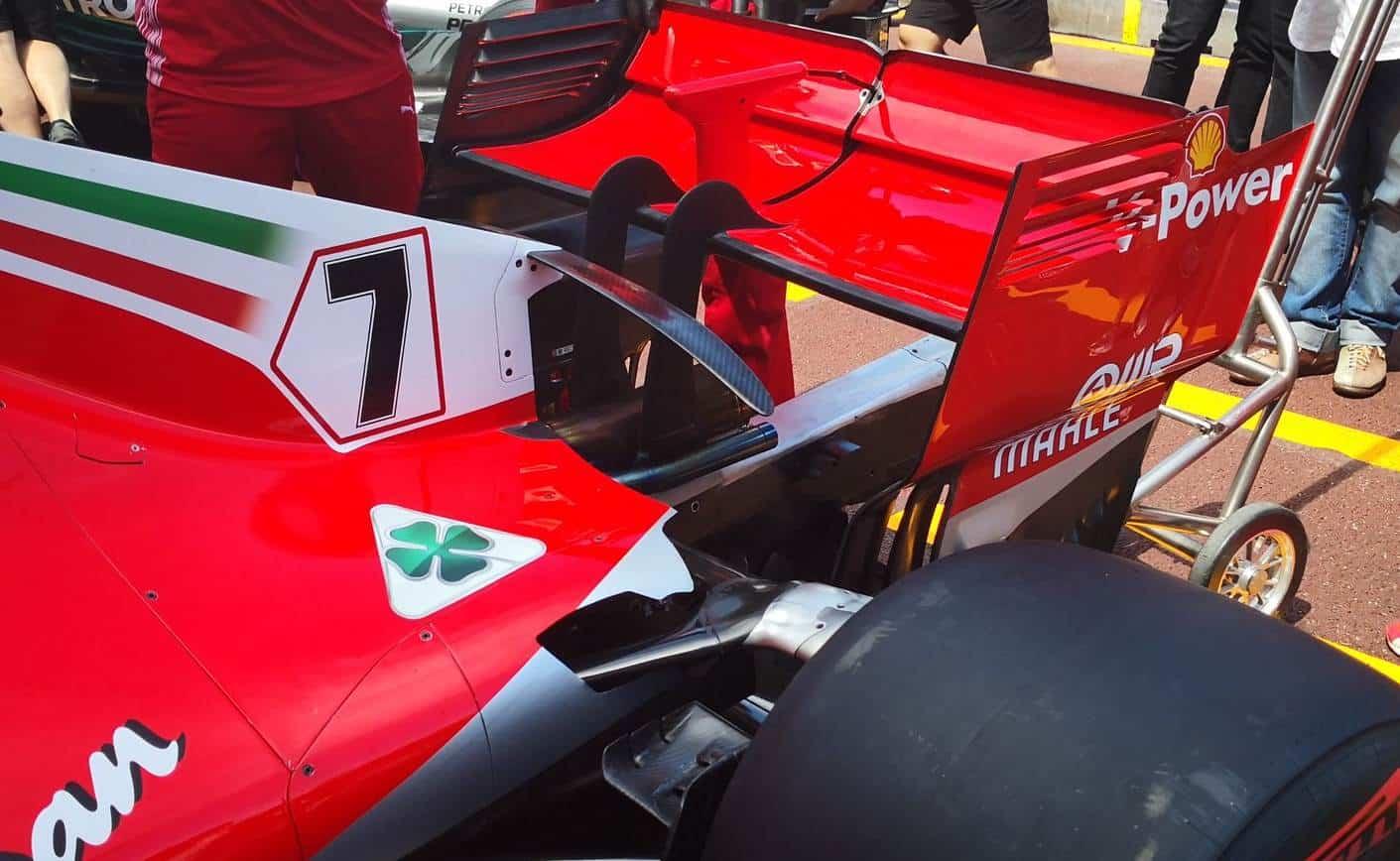 Ferrari SF71H ner rear suspension Monaco GP F1 2018 Raikkonen Photo Ferrari