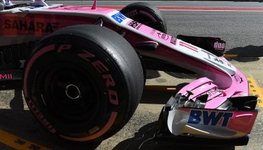 Force India VJM11 hypersoft Barcelona F1 test
