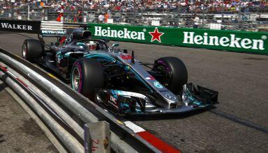 Hamilton Mercedes W09 Monaco GP F1 2018 apex Photo Daimler
