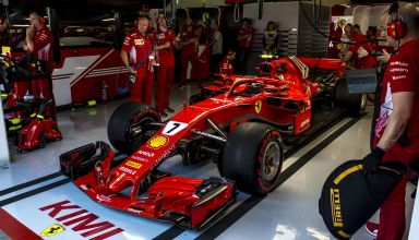 Kimi Raikkonen Ferrari SF71H Spanish GP F1 2018 garage Photo Ferrari