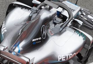 Mercedes W09 F1 2018 new sidepod winglets