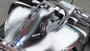 Mercedes W09 F1 2018 new sidepod winglets