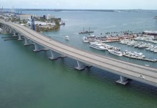 Miami F1 2019 track over the bridge