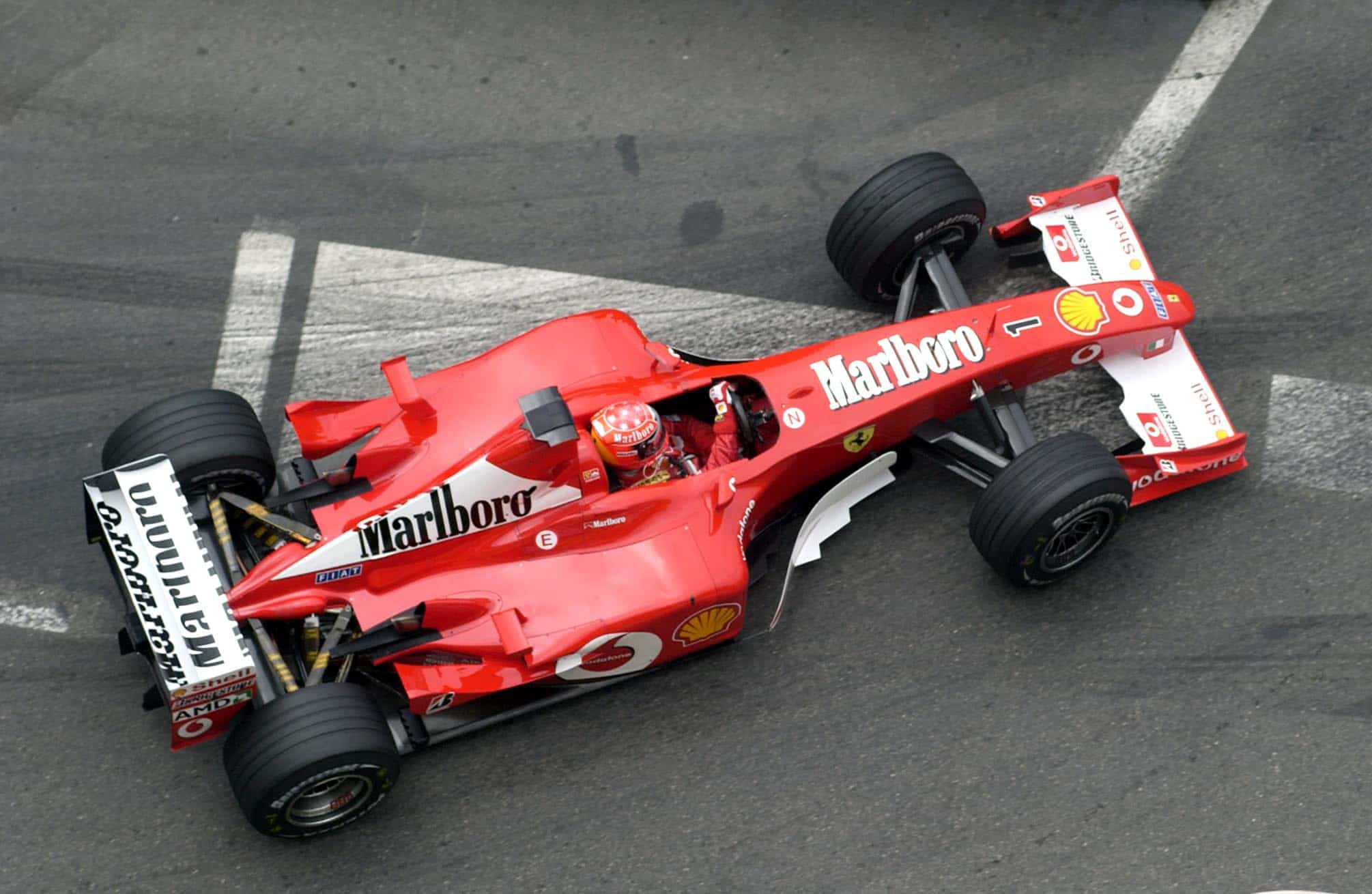 Monaco GP F1 2002 Michael Schumacher F2002 Photo Ferrari