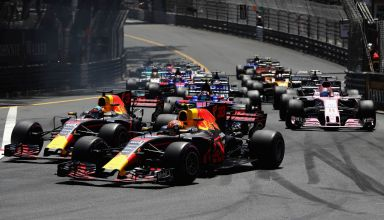 Monaco GP F1 2017 start Red Bull Photo Red Bull