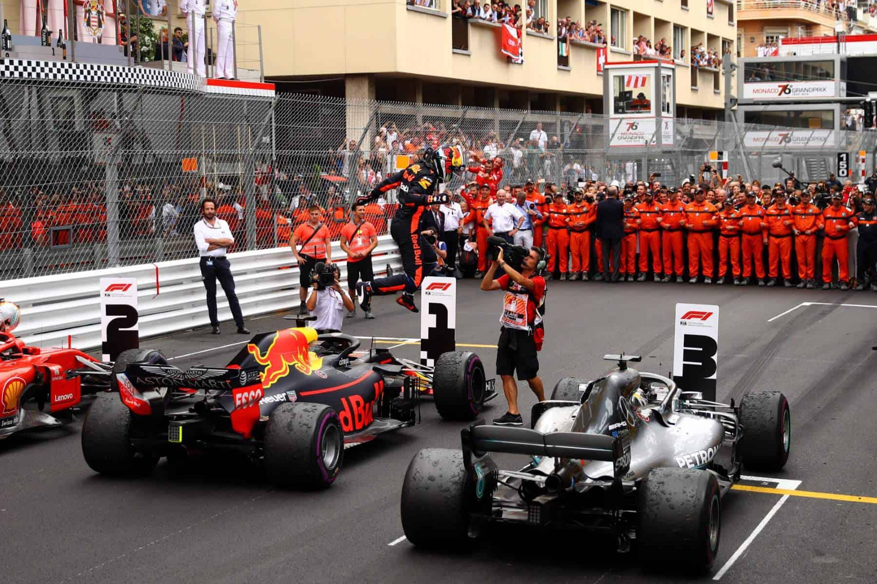 Monaco GP F1 2018 parc ferme Photo Red Bull