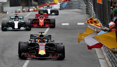 RIcciardo Hamilton Vettel Bottas Monaco GP F1 2018 Photo Red Bull