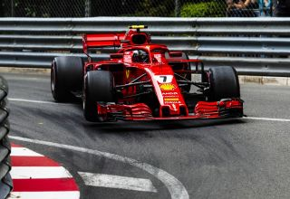 Raikkonen Ferrari SF71H Monaco GP F1 2018