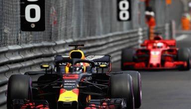 Ricciardo leads Vettel Monaco GP F1 2018 Photo Red Bull
