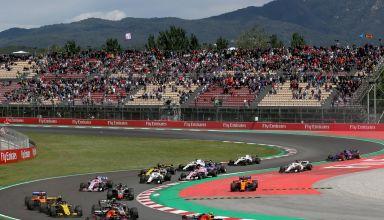 Spanish GP F1 2018 start first corner Photo Red Bull