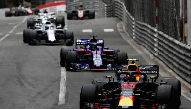Verstappen leads Hartley Monaco GP F1 2018 Photo Red Bull