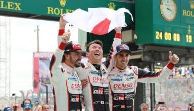 Alonso Le Mans 24h Toyota Buemi Nakajima podium