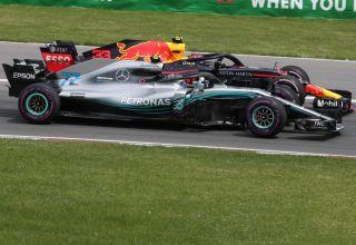 Bottas Verstappen Canadian GP F1 2018 start side by side PHoto Daimler