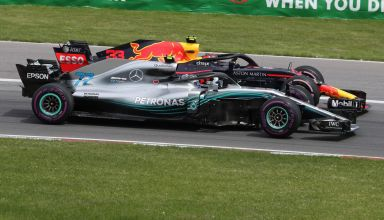 Bottas Verstappen Canadian GP F1 2018 start side by side PHoto Daimler