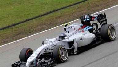 Bottas Williams F1 car 18 inch wheels