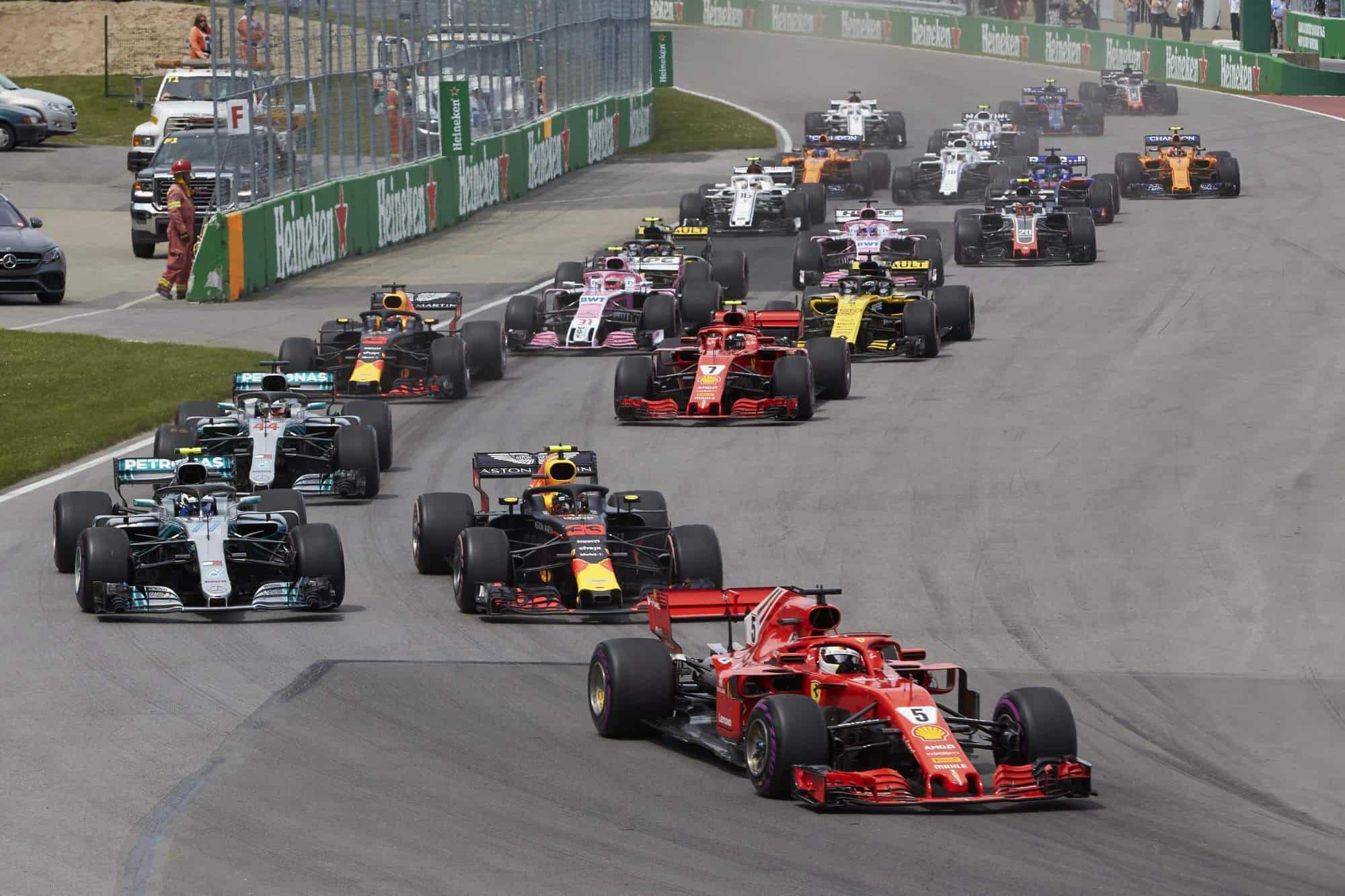 Canadian GP F1 2018 start Photo Daimler