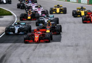 Canadian GP F1 2018 start Photo Ferrari