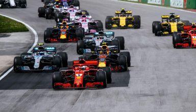 Canadian GP F1 2018 start Photo Ferrari