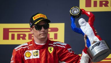 French GP F1 2018 Kimi Raikkonen Ferrari podium gorilla Photo Ferrari
