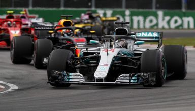 Hamilton leads Ricciardo Canadian GP F1 2018 Photo Daimler