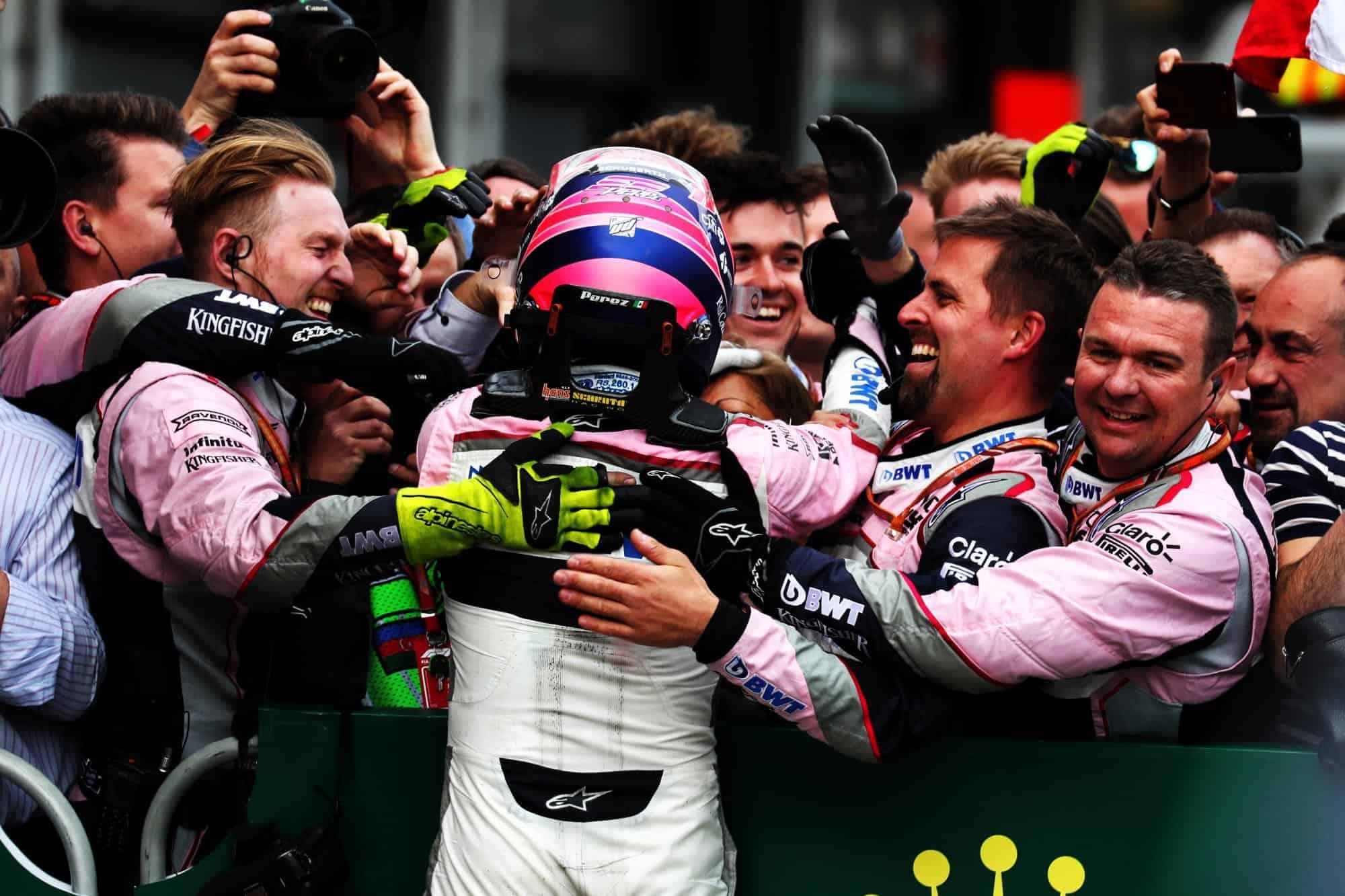 Perez Force India Baku F1 2018 podium
