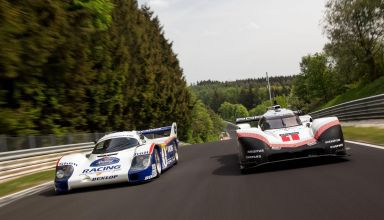 Porsche 956 and 919 Hybrid EVO Nurburgring