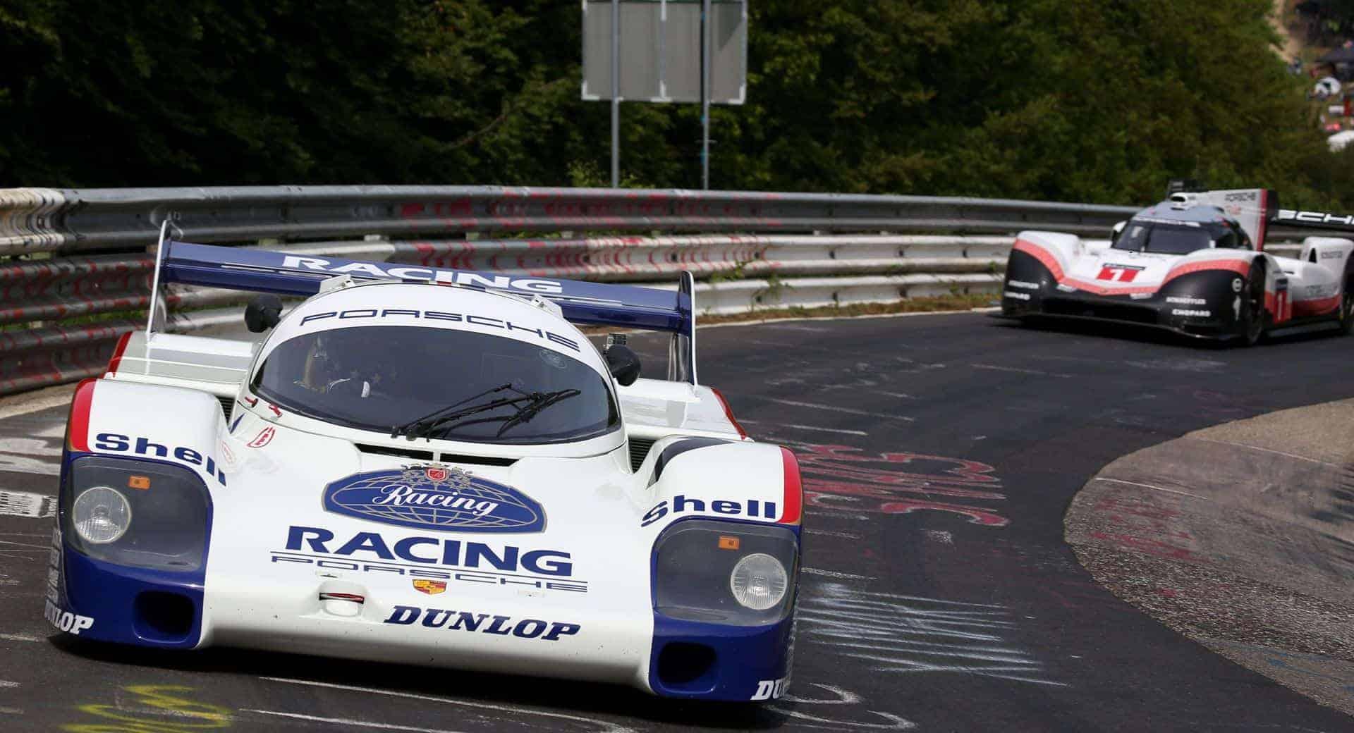 Porsche 956 and 919 Hybrid EVO Nurburgring caroussel
