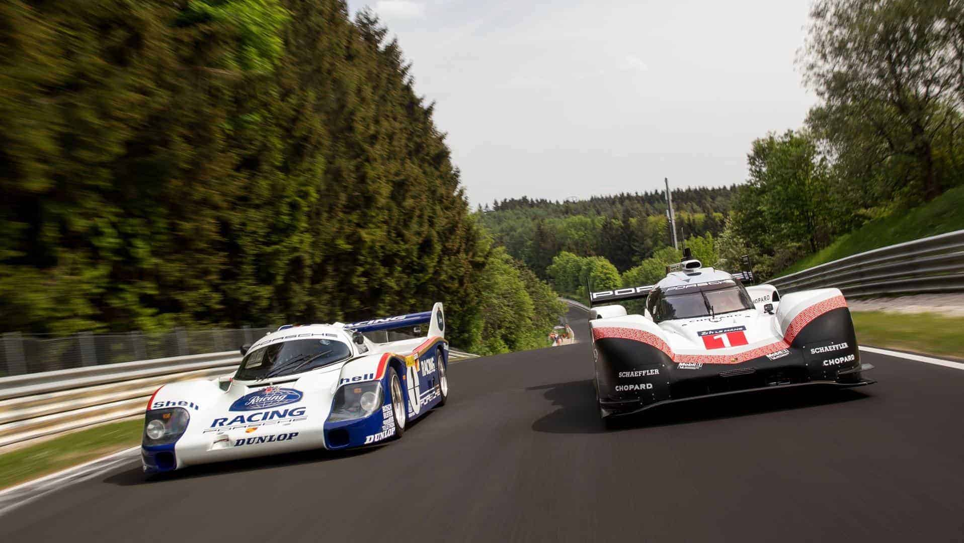 Porsche 956 and 919 Hybrid EVO Nurburgring