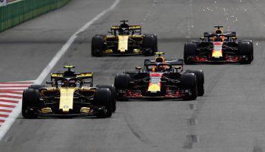 Renault and Red Bull drivers Azerbaijan GP Baku F1 2018 Photo Red Bull
