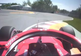 Vettel pole position onboard Canadian GP F1 2018 Ferrari SF71H