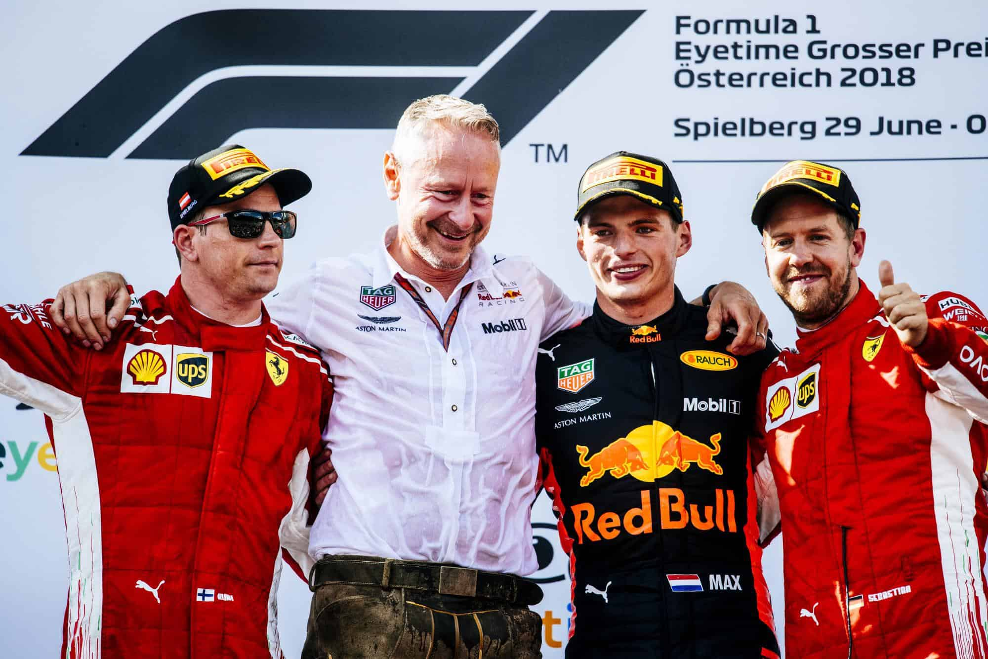 Austrian GP F1 2018 podium Photo Ferrari