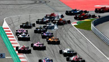 Austrian GP F1 2018 start first corner Photo Red Bull