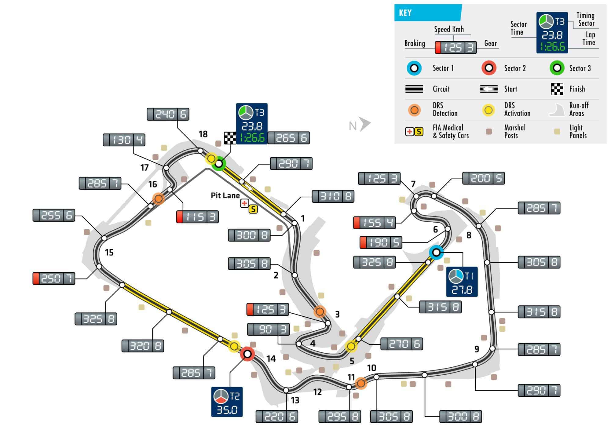 British GP F1 2018 Silverstone track map Photo FIA