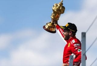 British GP F1 2018 Vettel podium win Photo Ferrari