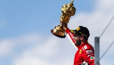 British GP F1 2018 Vettel podium win Photo Ferrari