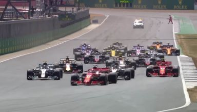 British GP F1 2018 start