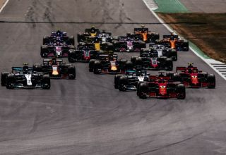 British GP F1 2018 start Photo Ferrari