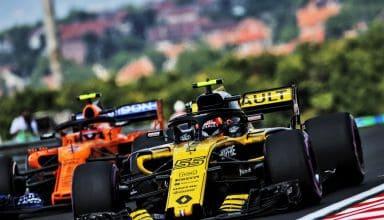 Carlos Sainz Renault Stoffel Vandoorne McLaren Hungarian GP F1 2018 Photo Renault