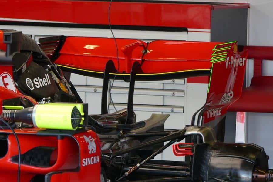 Ferrari SF71H British GP F1 2018 rear end engine Photo AMuS Ferrari