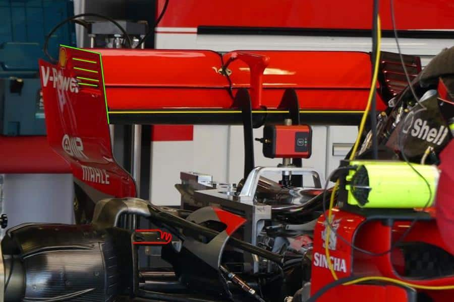 Ferrari SF71H British GP F1 2018 rear end engine Raikkonen Photo AMuS Ferrari
